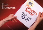 clear print protectors for hand bills, reports, flyers and other advertising and promotional uses