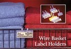 label holders for wire baskets and similar POP displays