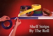 "130' x .010"",transparent colors shelf strip roll"
